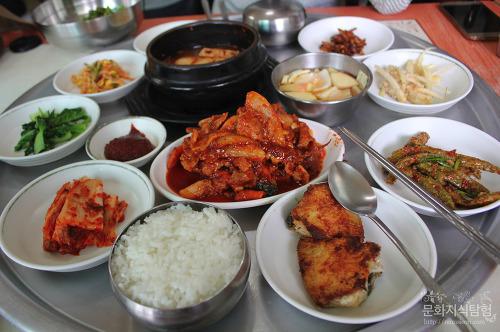 안동맛집 일신쉼터 기사식당 오삼불고기된장찌개