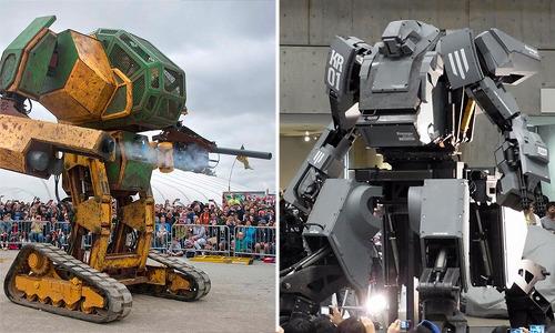 미국과 일본의 자존심이 걸린 세계 최초 '거대 로봇 대결'