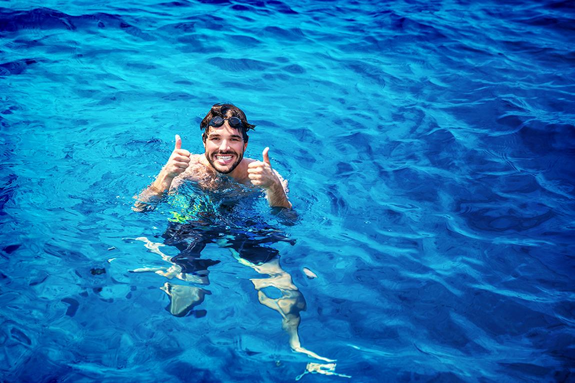 무더운 여름, 물속에서 시원하게 즐기는 이색..
