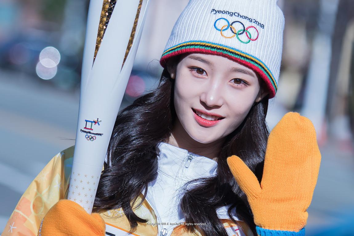 다이아 (DIA), 정채연: 2018 평창 동계올림픽대..