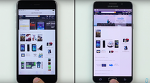 애플 아이폰6S 플러스는 삼성 갤럭시노트5 보다 실제 속도테스트에서 앞선것으로 나타나