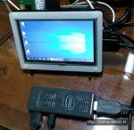 스틱PC를 라즈베리파이 LCD에 연결하기