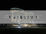 강릉 골든튤립 스카이베이 경포 호텔, 경포대 오션뷰 후기!
