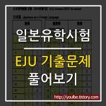 일본유학시험 EJU 에쥬 기출문제 풀어보기 방법