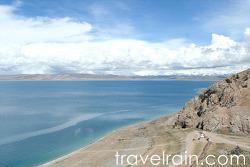 <티베트> 하늘 호수, 인간이 구름과 같은 높이를 걷는다.