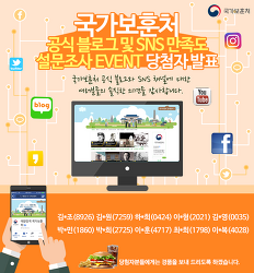 [당첨자 발표] 국가보훈처 공식 블로그 및 SNS 만족도 설문조사 이벤트