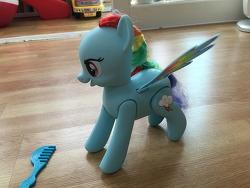 마이 리틀 포니 레인보우대시...뭐죠...이 장난감?!ㅋ