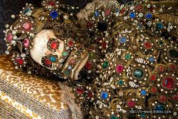 로마의 지하묘지에서 발굴된 해골
