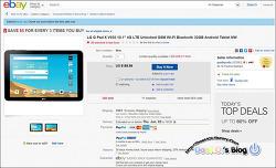 2016-5-25 / Ebay에서 LG G Pad X V930 10.1인치 테블릿 구입