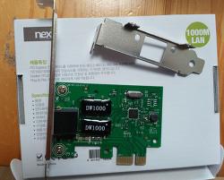 랜연결 이상 후 랜카드 구입 - 넥시 PCI-E 기가비트 유선랜카드 NX-GL1000
