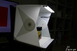 이동성이 좋은 미니스튜디오 폴디오2의 간단한 조립과 사용후기!! 제품촬영할때 너무 편하네