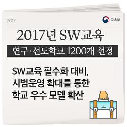 2017년 SW교육 연구·선도학교 1200개 선정