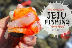 제주도 범섬 낚시(3), 갓 잡은 벵에돔을 썰어먹는 갯바위 회정식