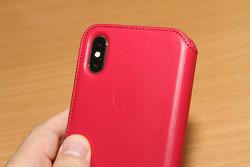 아이폰X 가죽 폴리오 케이스 Leather Folio 레드 제품 사용기