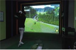 스크린 골프, 잔디, 바람, 새소리 모든 게 다 있다