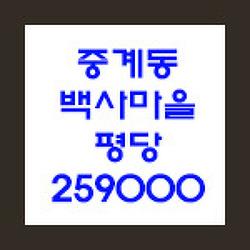 서울 자투리땅 노원구 중계동 백사마을 평당 259,000원