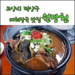 고양시 덕양구, 뼈해장국 맛집 원당헌