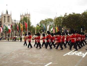런던여행, 버킹엄 궁전,근위병교대식