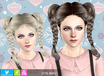 NewSea-SIMS3-hair-J176-Miku