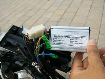 36v 15ah컨트롤러 속도제한과 pas모드 배선