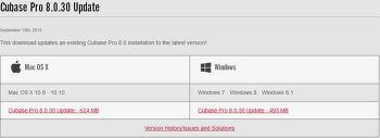 큐베이스 pro 8 ver 8.0.30 업데이트 다운로드 및 업데이트 내용 한글 번역