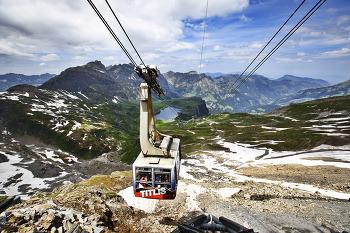 스위스 여행 티틀리스로 가자 -  티틀리스의 멋진 케이블카 사진