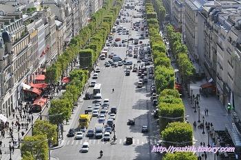 파리 개선문 전망대에서 마주한 파리 시내 전경!