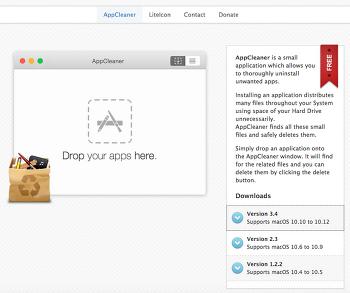 맥, 맥북(OSX)용 어플리케이션 삭제 프로그램 - AppCleaner 3.4