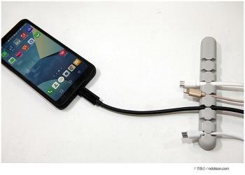 USB케이블 선정리 손쉽게 케이블홀더, ORICO CBS7 Desktop Cable Organizer Silicone Wire Holder Clip