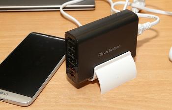 USB 멀티충전기 클레버 60W 퀵차지 2.0 지원 LG G5