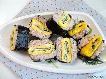 계란말이 사각 김밥 만들기, 간단하게 만들기 좋은 김밥
