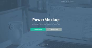웹디자인, 웹 목업 프로그램 PowerMockup 파워목업