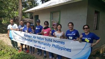 필리핀에서 펼쳐진 사랑의 집 짓기 봉사활동