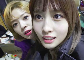 171208 Heart Shaker 뮤비 비하인드 트와이스 정연 모모 룸메즈 움짤