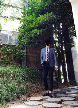 남자 가을 자켓 코디 [지이크] 남자 캐주얼 체크 자켓 : 셔츠 & 넥타이 코디