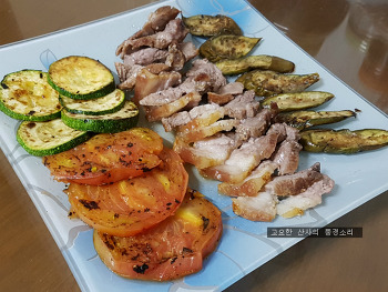 무더운 여름, 에어프라이어로 만든 돼지고기 수육