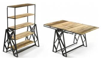 공간 활용도가 높은 테이블이 선반으로 변신하는 다이닝 테이블