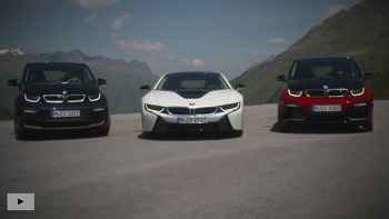 The BMW i3, the BMW i3s und the BMW i8 at the Timmelsjoch.