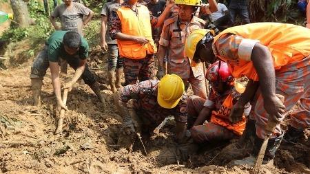 방글라데시 랑가마띠 등 산사태 사망자 130명 육박