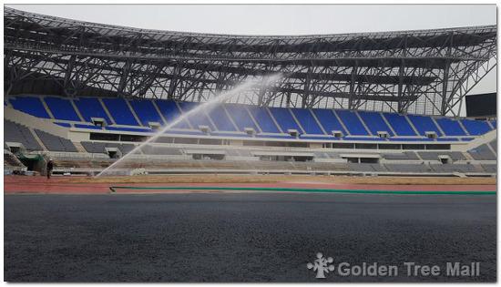 용인시민체육공원 주경기장 천연잔디 관수시설