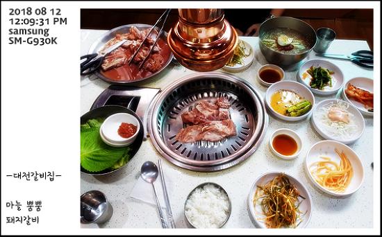대전갈비집 - 돼지갈비 + 돼지불고기 + 공기밥 + 물냉면