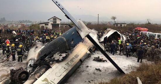 방글라데시 민항기 US-Bangla Airlines 카투만두 공항 추락, 50명 사망