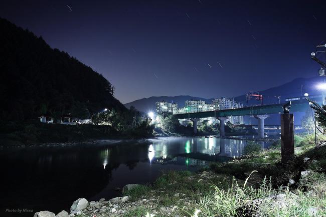 Night view of Chungpyong Jojongcheon, 2013