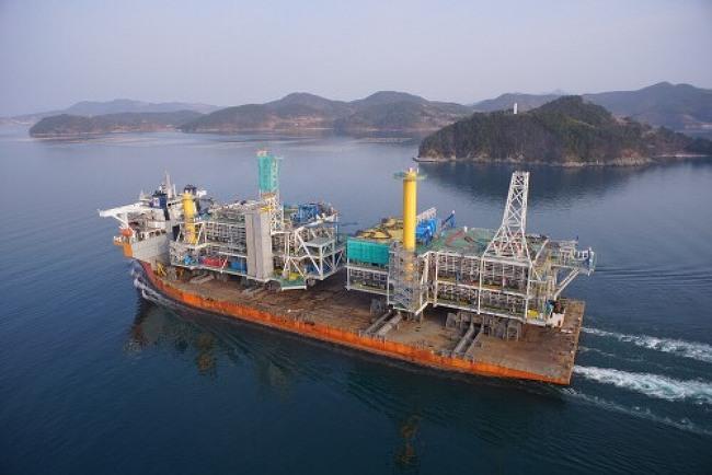 삼성重, 북해 해상플랫폼 성공적 인도