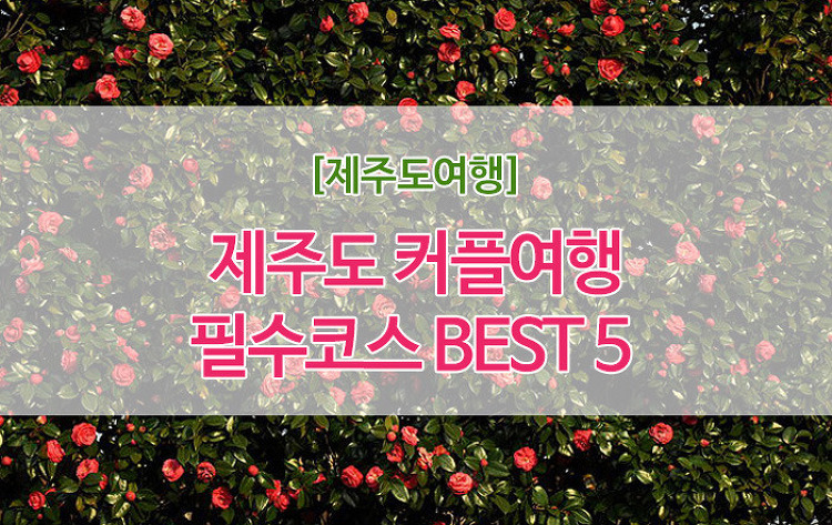 [제주도여행] 제주도 커플여행지 추천 BEST5 #제주도..