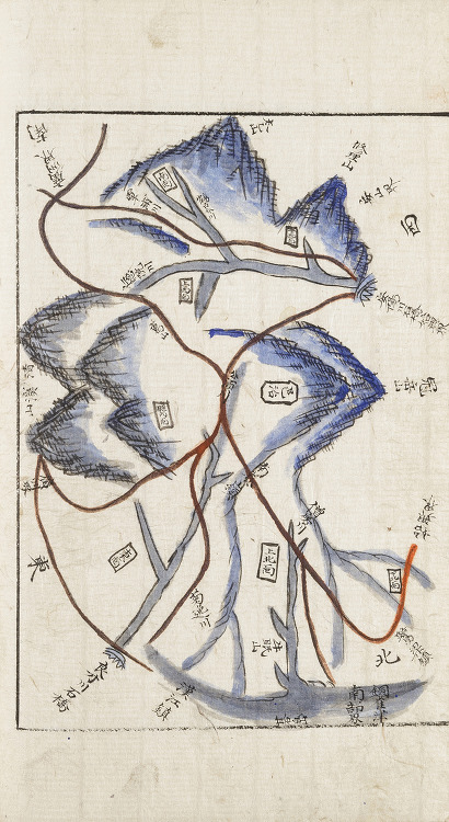1871년 과천현지도-안양권(경기읍지,규12177)