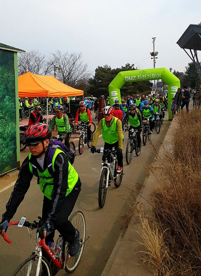 2017년 첫 DMZ 자전거투어, 3월 26일 파주 임진각에서 성황리 개최