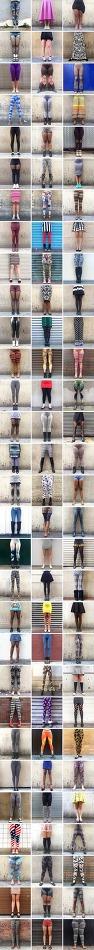 스테이시 베이커(Stacey-Baker)가 찍은 다양한 여성의 다리 사진