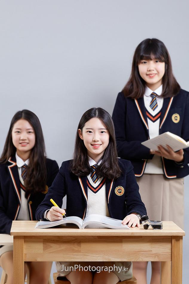 정화여자상업고등학교 학교홍보사진 스튜디오 촬영