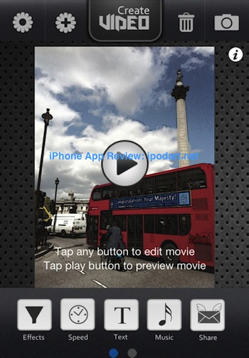 FunSlides 아이폰 사진 슬라이드 동영상 만들기